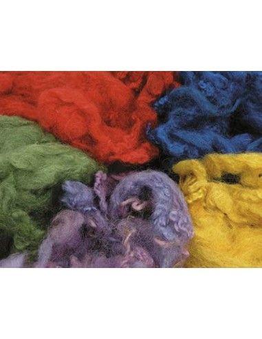 Lana riccia colorata