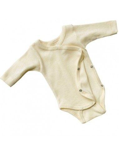 Body a manica lunga in lana seta per...