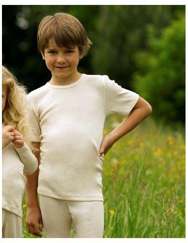 Maglietta intima bambino in lana...