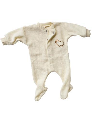 Tutina neonato in spugna di lana