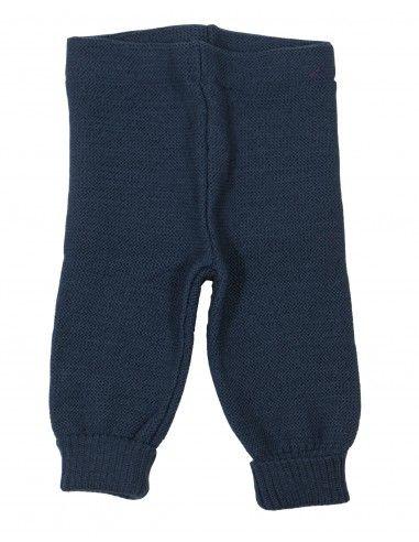 Leggings baby in lana Merino col. blu