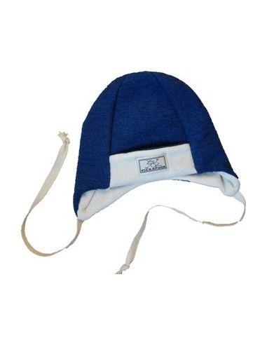Cappellino baby in spugna di lana