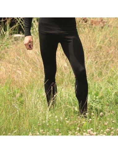 Leggings uomo in lana mista seta...