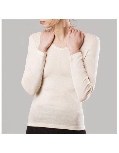 Maglietta donna a manica lunga in...