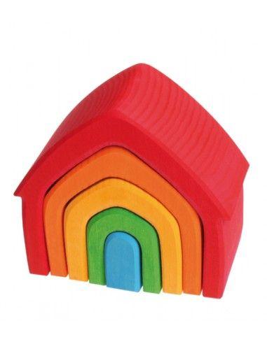 Set casa in legno colorato