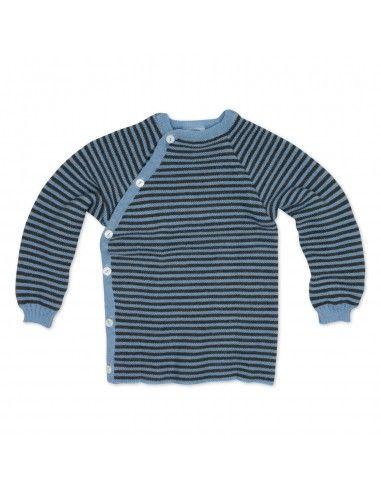 Pullover in lana Merino righe...