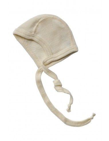 Cuffietta per prematuri in lana seta