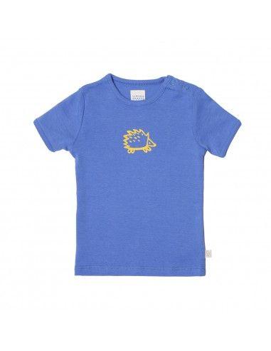 Maglietta baby in cotone bio - col. blu