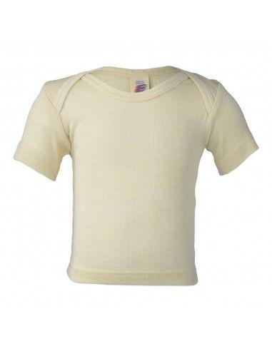 Maglietta baby a manica corta in lana...