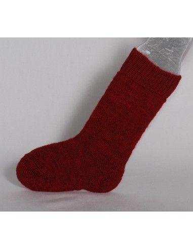 Calzino in lana per stivali- col. rosso