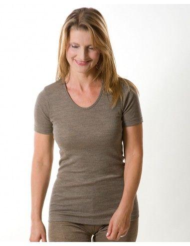Maglietta donna a manica corta in...