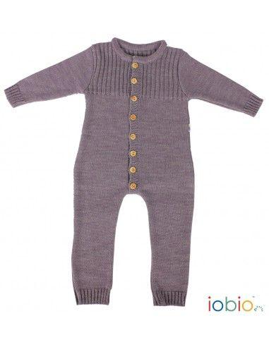 Baby overall in lana Merino