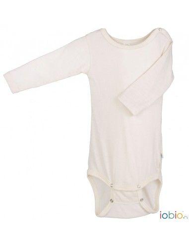 Body a manica lunga in lana seta Iobio