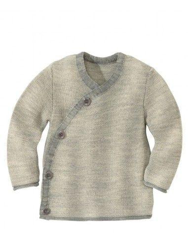 Maglione doppiopetto in lana Merino...