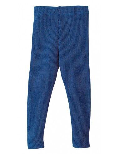 Leggings in lana Merino col. blu navy
