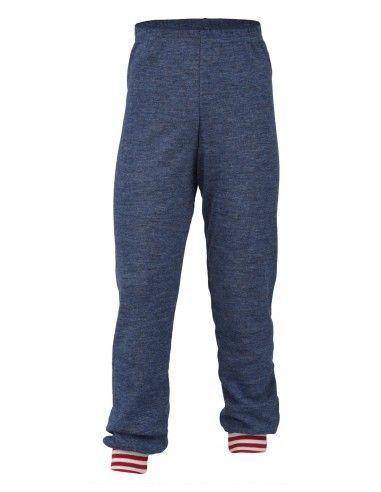Pantalone lungo in lana Merino col....