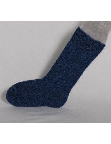 Calzino in lana per stivali -col. blu...