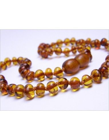 Collana d'ambra baby - perle barocco...