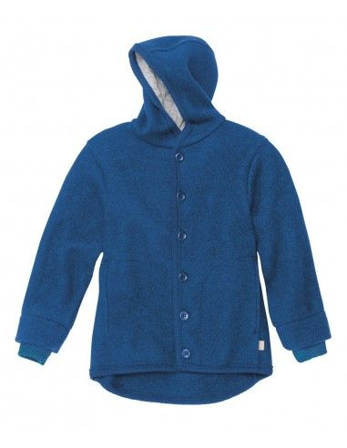Giacca in lana cotta - col. blu navy