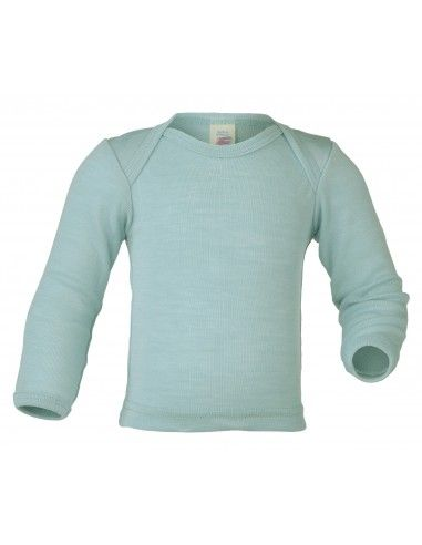 Maglietta baby a manica lunga in lana...