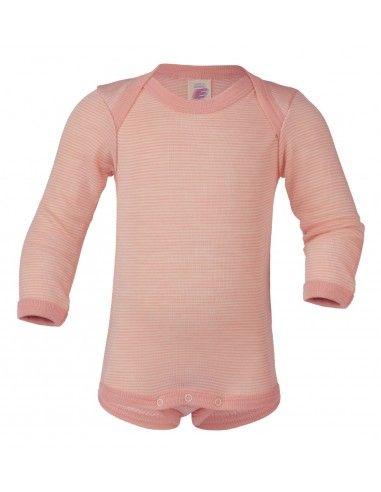 Body baby a manica lunga in lana seta...