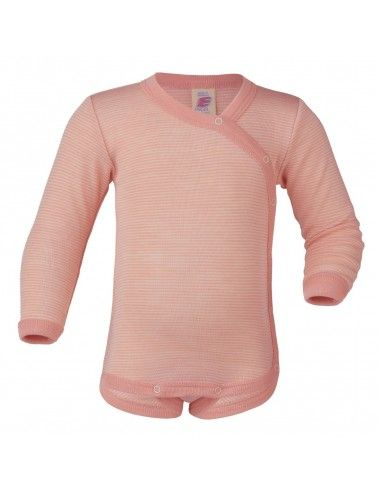 Body in lana seta con apertura...