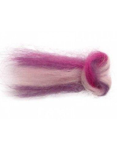 Lana filata multicolore toni rosa/...