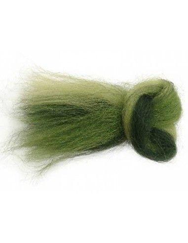 Lana filata multicolore toni verde 1199