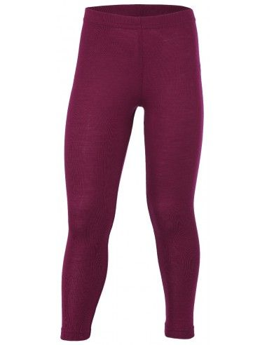 Leggings unisex in lana mista seta...