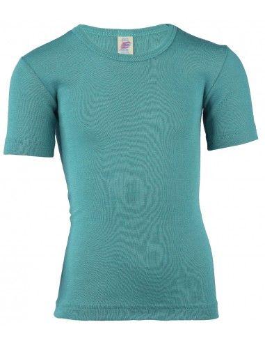Maglietta a manica corta in lana seta...