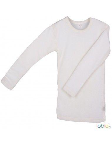 Maglietta a manica lunga in lana seta...