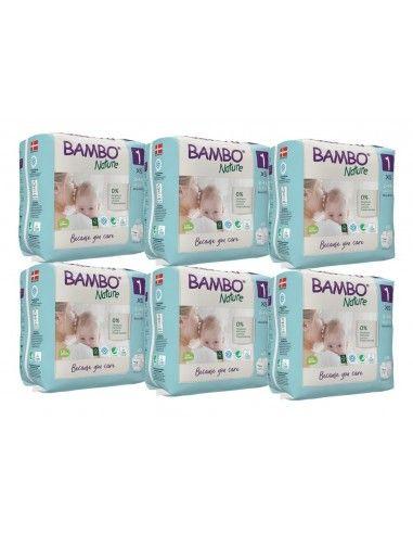 Pannolini Bambo Nature Taglia 1 (2-4...
