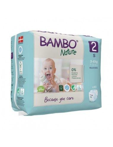 Pannolini Bambo Nature Taglia 2 (3-6 kg)
