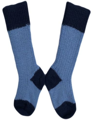 Calzino corto in lana azzurro / blu...