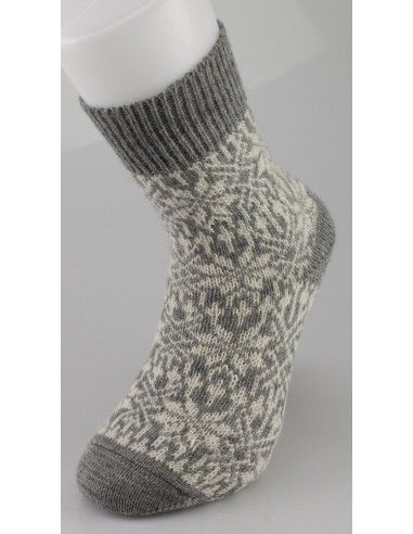 Calzino corto adulto in lana motivo...