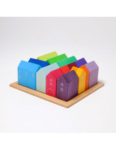 Casette colorate in legno Grimm's