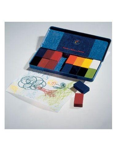 Mattoncini di cera Stockmar - 16 colori
