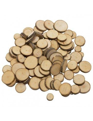 Dischetti in legno naturale per...
