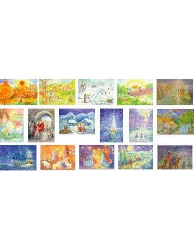 Cartoline artistiche Stagioni e Feste...